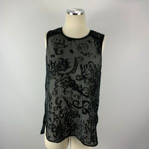 The Limited Small Overlay Tank Blouse